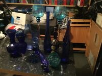 Collection of Blue Glass