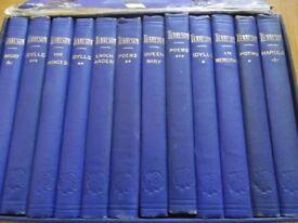 Rare Tennyson 10-volume Cabinet Edition printed 1878