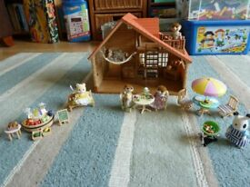 Sylvanian families log cabin and other sets for sale