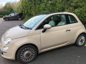 Fiat 500 Colour Therapy 1.2L in beige, manual with fun roof