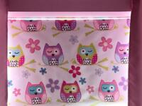 Girls Owl Roller Blind and Lampshade Pink
