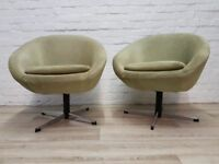 Pair Of 1960's Swivel Chairs (DELIVERY AVAILABLE)