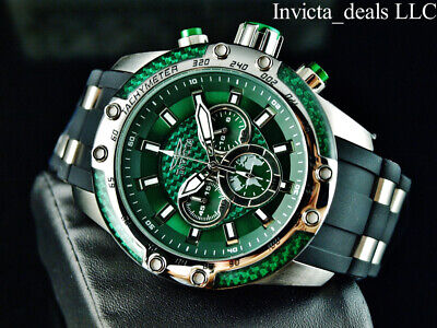 NEW Invicta Men's 50mm SPEEDWAY HYBRID SCUBA Chrono Sapphire Green Dial SS Watch