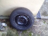 wheel and new tyre off a renault clio extreme 3 16v tyre size 175/65r14