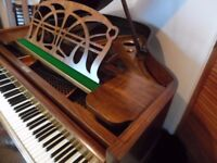 small art deco baby grand piano by max adolph