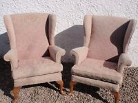 Two Genuine Classic Parker Knoll Wing Chairs