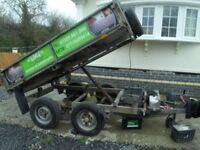 ivor williams tipping trailer 8x5 plant box