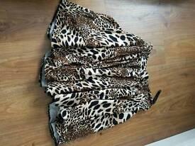 River Island leopard skirt size 10