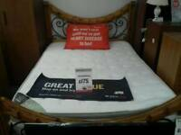 Double bed and mattress BRITISH HEART FOUNDATION