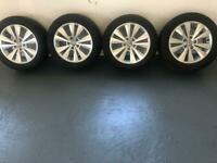 "Genuine 16"" VW Golf Alloy Wheels with Kumho 205/55R16 Tyres in excellent condition"
