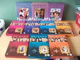 Lot of 10 Friends DVD Box Sets complete tv series, jennifer aniston, courteney cox, matthew perry