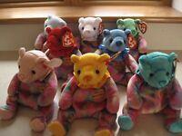 Ty Beanie Baby Birthday Bears