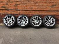 "4 x 18"" Original BMW M3 E46 Alloy Wheels with Michelin Pilot Super Sport Tyres"