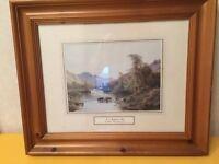 'In a Highland Glen' framed picture