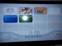 Nintendo wii with controller and games