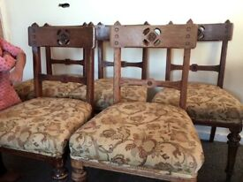 5 ork antique dining chairs