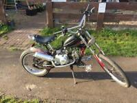 50cc custom-built chopper bike in really good condition £800 or swaps let me no what you have