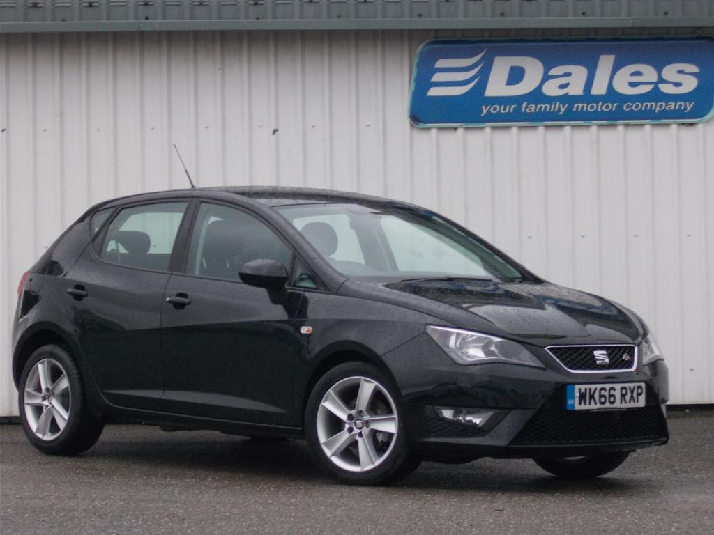 seat ibiza 1 2 tsi 90 fr technology 5dr black 2016 in newquay cornwall gumtree. Black Bedroom Furniture Sets. Home Design Ideas