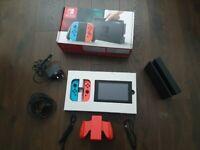 Nintendo switch with box