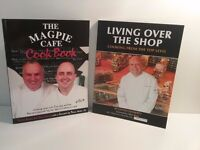 2 recipe books. 'Magpie Cafe' and 'Living over the shop'