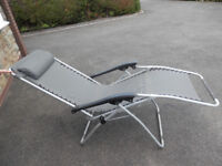 2 excellent condition gravity chairs for garden, camping caravan
