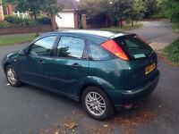 2002 Ford Focus 1.6i 16v LX 5dr Cheap to run and insure