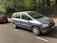 Vauxhall Zafira 1.6 petrol (year 2001) 7 seaters