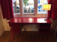 Red wooden desk - custom-made, solid, high quality