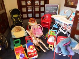 Various children's Toys/Chairs/High Chairs/Prams