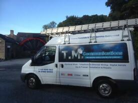 TM Comms-digital tv aerial,satellite sky dish installation,BT,Sky/TV repairs,TV wall bracket install