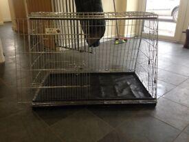 Dog crate metal estate car