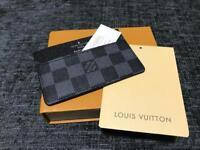 LV Mens Black Cardholder