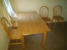 Solid wood table (sits 4-6)