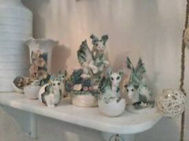 Collectable Chessel pottery dragons