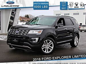 2016 Ford Explorer **LIMITED*CUIR*TOIT*NAVI*CAMERA*A/C 2 ZONES**