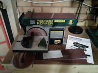 RECORD POWER BDS 150 BELT & DISC SANDER PLUS MITRE/BEVEL FENCE/INSTRUCTION BOOK