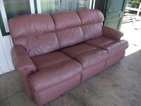 Leather LazyBoy Hidabed Couch
