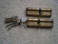 UAP 100mm - 45/55mm - 2 x cylinder locks keyed alike - brass