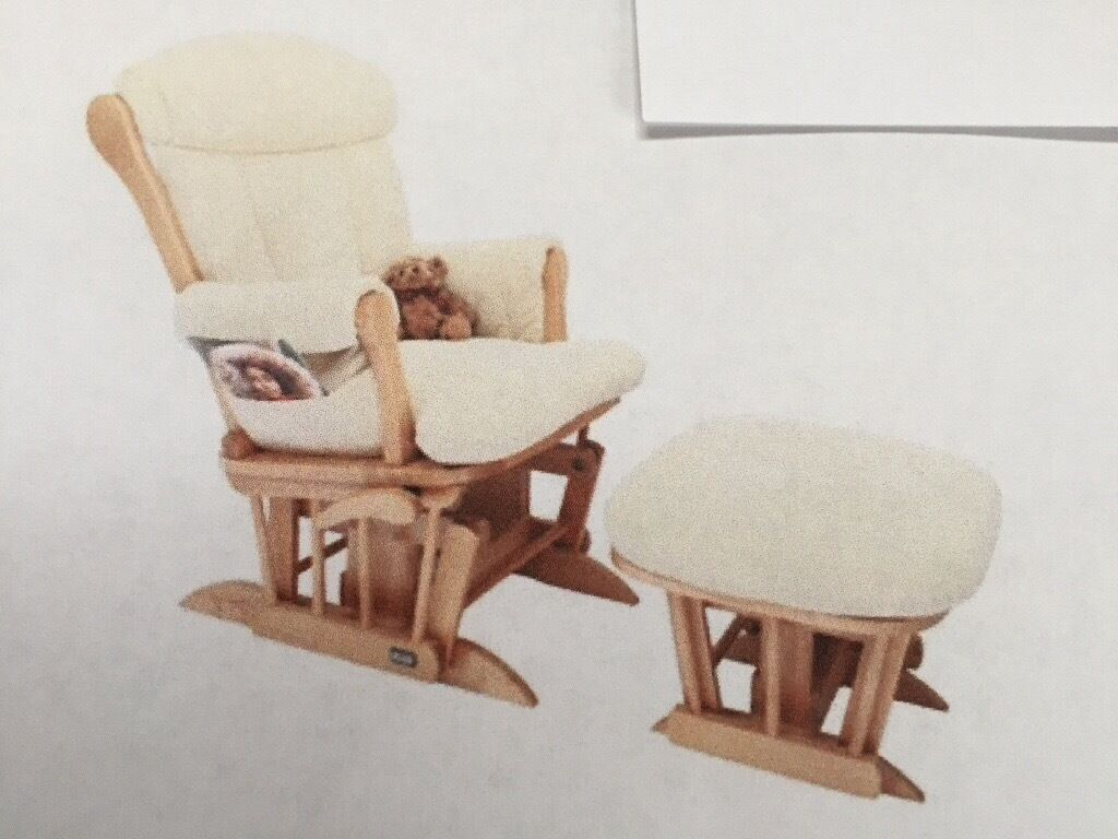 DUTAILIER TUTTI BAMBINI RECLINING GLIDER CHAIR & STOOL