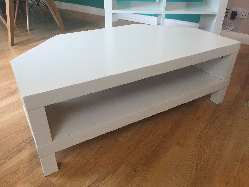 white ikea lack corner tv unit and coffee table in farnham surrey gumtree. Black Bedroom Furniture Sets. Home Design Ideas