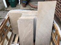 Marshalls Buff Riven Indian Sandstone – Approx 7.0 square Metres.