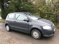 2010 Volkswagen VW Fox (Polo Lupo). Genuine 52000 Miles Only. 1 previous lady owner. Almost 50 MPG!