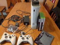 xbox 360 120gb + games