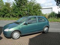 corsa 1.2 16v 3 door hatch metallic green 59890 miles