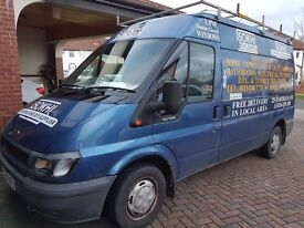 Ford Transit - Solid roof rack - internal shelving