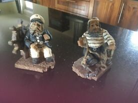 2 old sailors ornaments / bookends