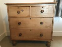 Victorian pine chest of drawers genuine antique vintage farmhouse rustic