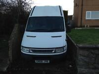 Iveco daily 2.3 long wheel base high roof.