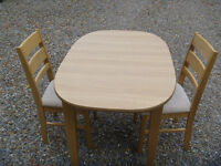 Glenwood Furniture Dining table and 2 chairs