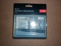Logik 5 in 1 Camera/Camcorder Cleaning Kit Lens Cleaning pen,Cloths,Liquids.